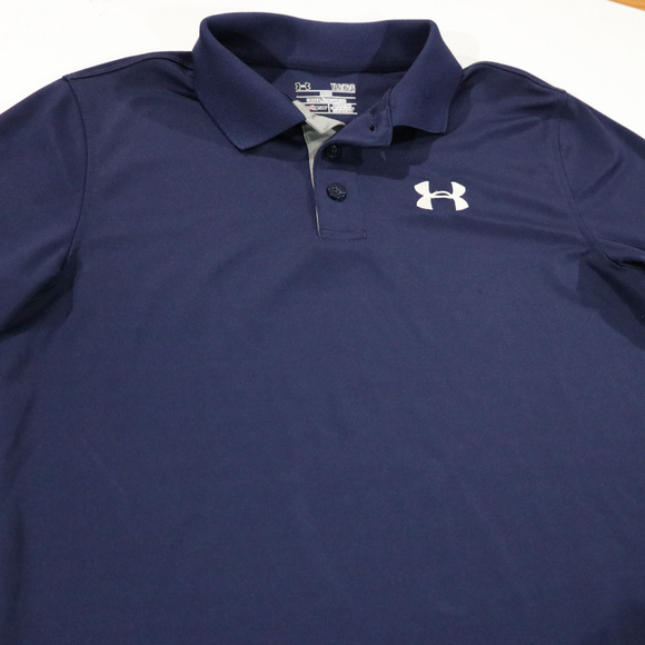 Under Armour Other - Under Armour Blue Heat Blue Polo YLG